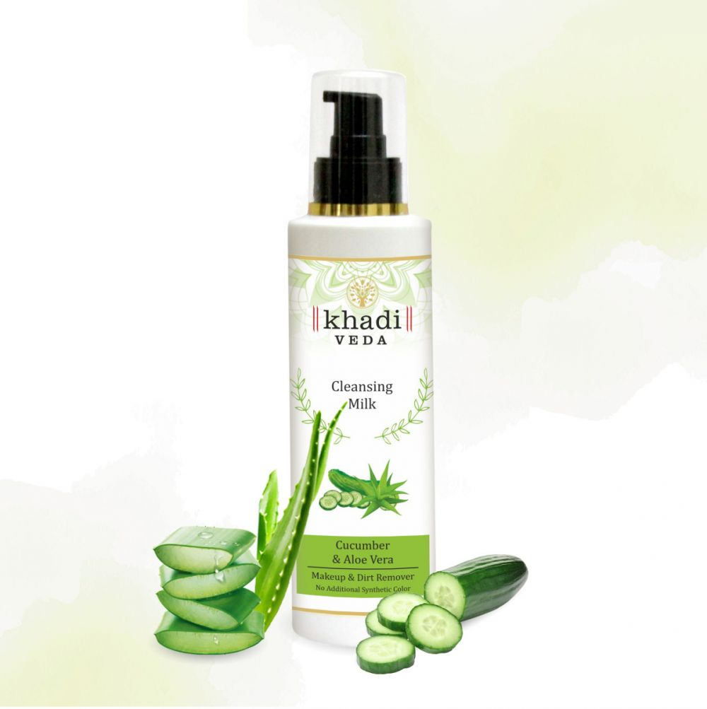 Khadi Veda Cucumber & Aloevera Cleansing Milk 200ml