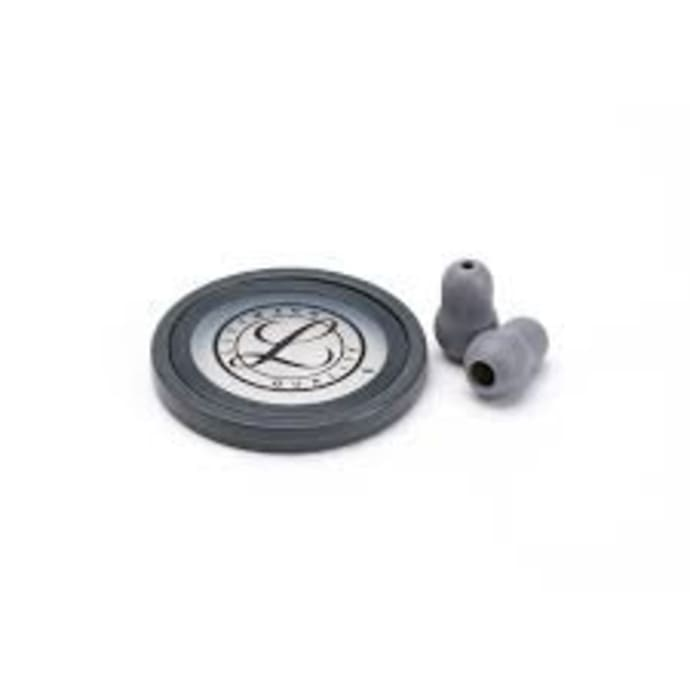 3m littmann stethoscope spare parts kit, master cardiology, gray, 40018