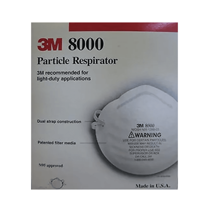 3m n95 8000 particle respirator mask pack of 10