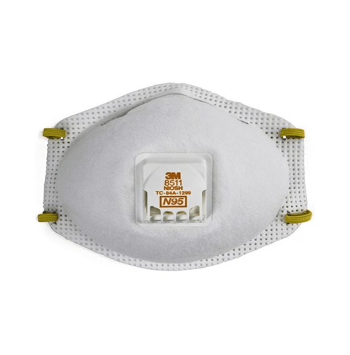 3m n95 8511 respirator mask white pack of 2