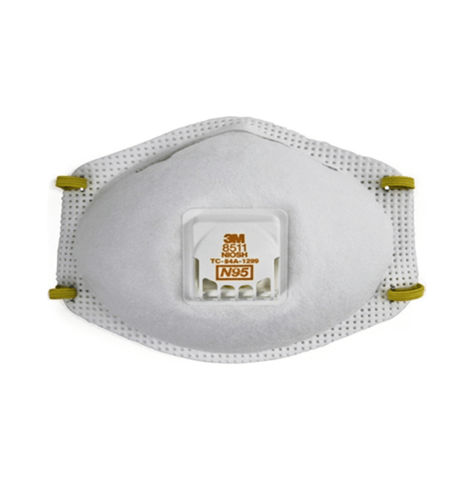 3m n95 8511 respirator mask white pack of 5