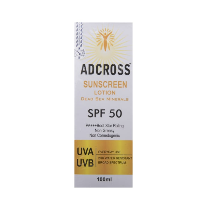 Adcross spf 50 sunscreen lotion