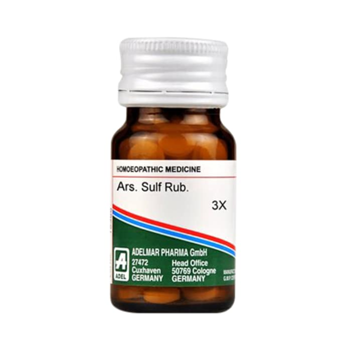 Adel ars. sulf rub. trituration tablet 3x